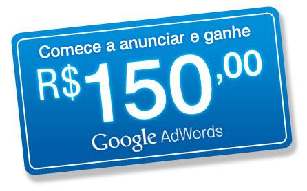 Cupom Créditos Google AdWords R$150,00