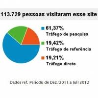 Gráfico do Google Analytics com % do Tráfego do site
