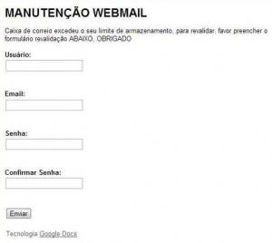 Spam usa Google Docs para roubar dados de internautas